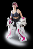 λευκό φωτογραφιών πάγου χόκεϋ ανασκόπησης goalie Στοκ εικόνα με δικαίωμα ελεύθερης χρήσης