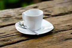 λευκό φλυτζανιών καφέ Στοκ Εικόνες