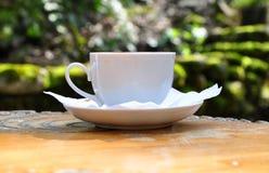 λευκό φλυτζανιών καφέ Στοκ εικόνες με δικαίωμα ελεύθερης χρήσης
