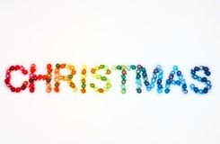 λευκό Χριστουγέννων μπιχλιμπιδιών ανασκόπησης Στοκ εικόνες με δικαίωμα ελεύθερης χρήσης