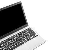 λευκό lap-top ανασκόπησης Στοκ εικόνα με δικαίωμα ελεύθερης χρήσης