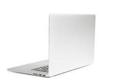 λευκό lap-top υπολογιστών Στοκ φωτογραφία με δικαίωμα ελεύθερης χρήσης