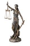 λευκό themis συμβόλων δικαιοσύνης ανασκόπησης Στοκ Φωτογραφία