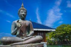 Ευλογώντας το Βούδα σε Gangarama βουδιστικό στοκ εικόνες