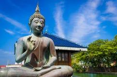 Ευλογώντας το Βούδα σε Gangarama βουδιστικό στοκ φωτογραφία με δικαίωμα ελεύθερης χρήσης