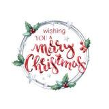 Ευμένος σας τη Χαρούμενα Χριστούγεννα Στοκ εικόνα με δικαίωμα ελεύθερης χρήσης