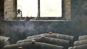 Ευμετάβλητη σκηνή του κελαριού κρασιού φιλμ μικρού μήκους