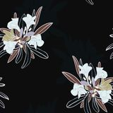Ευμετάβλητος Floral ένας άνευ ραφής κήπων επαναλαμβάνει το διάνυσμα τυπω διανυσματική απεικόνιση