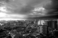 Ευμετάβλητο ηλιοβασίλεμα Cochabamba Στοκ εικόνα με δικαίωμα ελεύθερης χρήσης