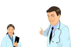 Ευπροσήγορος γιατρός με την ταμπλέτα Στοκ Φωτογραφία