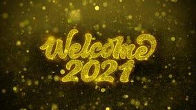 Ευπρόσδεκτη κάρτα χαιρετισμών επιθυμιών του 2021, πρόσκληση, πυροτέχνημα εορτασμού διανυσματική απεικόνιση