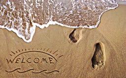 Ευπρόσδεκτες καλοκαιρινές διακοπές στοκ εικόνες