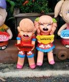 Ευπρόσδεκτες κούκλες ασβεστοκονιάματος στοκ εικόνες με δικαίωμα ελεύθερης χρήσης