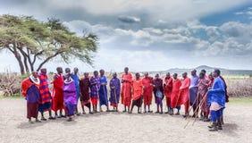 Ευπρόσδεκτος χορός Masai Στοκ Εικόνες