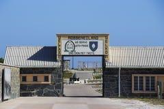 Ευπρόσδεκτο σημάδι 1 νησιών Robben Στοκ Φωτογραφία