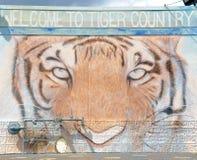 Ευπρόσδεκτο σημάδι χώρας τιγρών, Μέμφιδα Τένεσι Στοκ Εικόνα