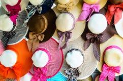 Ευρέα καπέλα Brimmed Στοκ Φωτογραφίες