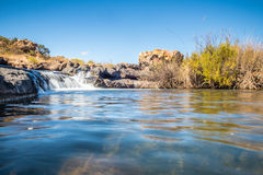 Ευρεία άποψη του καταρράκτη λακκουβών τύχης Bourkes, Mpumalanga Στοκ Εικόνες