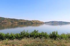 Ευρεία ακτή ποταμών Δούναβη Στοκ εικόνες με δικαίωμα ελεύθερης χρήσης