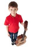 Αγόρι με την ακουστική κιθάρα Στοκ εικόνα με δικαίωμα ελεύθερης χρήσης