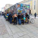 Ευρεία οδός, Οξφόρδη, UK, στις 27 Νοεμβρίου 2016: Εγκατάσταση β τέχνης Στοκ εικόνες με δικαίωμα ελεύθερης χρήσης