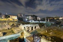 Ευρεία φωτογραφία γωνίας του ρωμαϊκού φόρουμ, Ρώμη Στοκ Φωτογραφίες