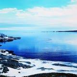 Ευρεία μπλε θάλασσα στοκ φωτογραφία