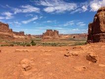 Ευρείς ανοιχτοί χώροι στην έρημο στοκ φωτογραφίες