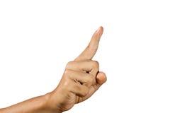 ευρετήριο δάχτυλων που  Στοκ Φωτογραφία