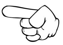 ευρετήριο δάχτυλων διανυσματική απεικόνιση