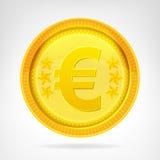 Ευρο- αντικείμενο νομίσματος νομισμάτων χρυσό που απομονώνεται Στοκ εικόνες με δικαίωμα ελεύθερης χρήσης