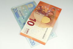 ευρο- λευκό τραπεζογρ&alp Στοκ Εικόνα