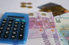 20 50 100 500 ευρο- ευρωπαϊκά νομίσματος Στοκ φωτογραφία με δικαίωμα ελεύθερης χρήσης