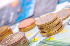 20 50 100 500 ευρο- ευρωπαϊκά νομίσματος Στοκ Εικόνες