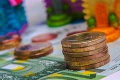 20 50 100 500 ευρο- ευρωπαϊκά νομίσματος Στοκ Φωτογραφίες