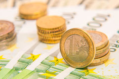 20 50 100 500 ευρο- ευρωπαϊκά νομίσματος Στοκ εικόνα με δικαίωμα ελεύθερης χρήσης