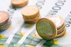 20 50 100 500 ευρο- ευρωπαϊκά νομίσματος Στοκ Φωτογραφία