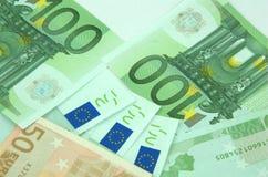 20 50 100 500 ευρο- ευρωπαϊκά νομίσματος Στοκ φωτογραφίες με δικαίωμα ελεύθερης χρήσης