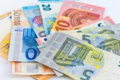 Ευρο- ευρωπαϊκά τραπεζογραμμάτια χρημάτων Στοκ Εικόνα