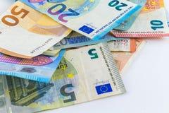 Ευρο- ευρωπαϊκά τραπεζογραμμάτια χρημάτων Στοκ φωτογραφία με δικαίωμα ελεύθερης χρήσης