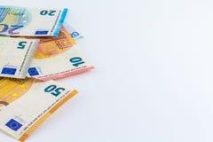 Ευρο- ευρωπαϊκά τραπεζογραμμάτια χρημάτων Στοκ εικόνες με δικαίωμα ελεύθερης χρήσης