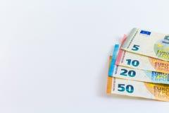 Ευρο- ευρωπαϊκά τραπεζογραμμάτια χρημάτων Στοκ Φωτογραφίες