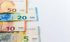 Ευρο- ευρωπαϊκά τραπεζογραμμάτια χρημάτων Στοκ φωτογραφίες με δικαίωμα ελεύθερης χρήσης