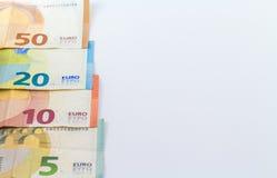 Ευρο- ευρωπαϊκά τραπεζογραμμάτια χρημάτων Στοκ Φωτογραφία