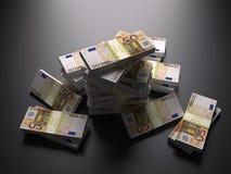 ευρο- ευρωπαϊκή στοίβα εγγράφου χρημάτων νομίσματος έννοιας Στοκ εικόνα με δικαίωμα ελεύθερης χρήσης