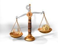 ευρο- κλίμακα δολαρίων ν& διανυσματική απεικόνιση