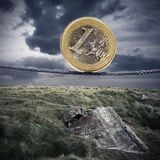 Ευρο- κρίση στοκ εικόνες
