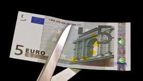 Ευρο- λογαριασμός πέντε Στοκ Εικόνα