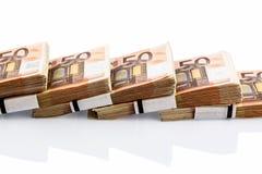 ευρο- μέρος τραπεζογραμματίων Στοκ φωτογραφία με δικαίωμα ελεύθερης χρήσης