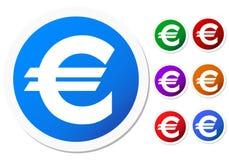 ευρο- μεγάλο διάνυσμα εικονιδίων συλλογής ελεύθερη απεικόνιση δικαιώματος